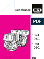 Hatz Diesel INSTRUCTION BOOK