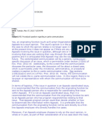 Ex Parte Communications in Tax Appeals -- LTR 1320020