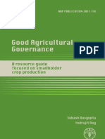 Good Agriculture Governance