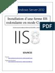 Installation d'une ferme IIS redondante en mode Core (tuto de A à Z)