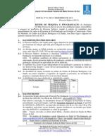 Edital Mestrado 2013