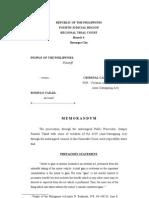 Memorandum on Carnapping by Shai Clemino-Abelo