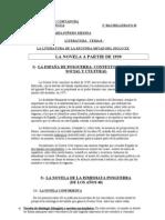 2º BACHILLERATO LITERATURA TEMA 8.- LA NOVELA EN LA SEGUNDA MITAD DEL SIGLO XX