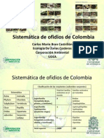 Sistematica de Ofidios de Colombia