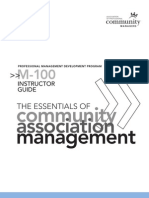 M-100 - The Essentials of Community Association Management - Leader Guide