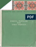 Banateanu T Portul Popular Din Tara Oasului Caiete de Arta Populara 1955