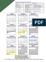 Academic Calendar2012 13