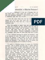 Isn't the Nationalist a Mental Patient - Dr. E.W. Adikaram