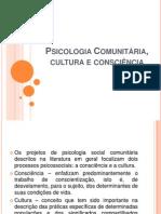 1- Psicologia Comunitária, cultura e consciência