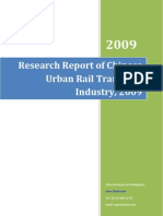 Research Report of Chinese Urban Rail Transport Industry, 2009