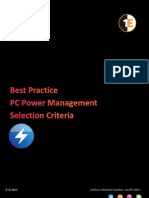 Best Practice PC Power Management Selection Criteria