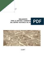 Reglamento Centro Historico