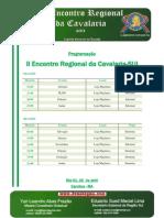 Programação do II Encontro Regional da Cavalaria