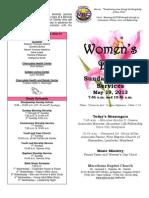 Women's Day Bulletin- May 19, 2013