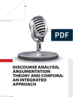 Discourse Analysis Argumentation Theory and Corpora. an Integrated Approach - By Chiara Degano - Index - Introduction and Ch. 2
