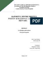 Raportul de Dr Pozitiv Si Rational La M Djuvara