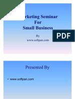 Marketing Seminar for Small Business