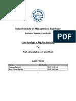 Pilgrim Bank (B) Case Analysis
