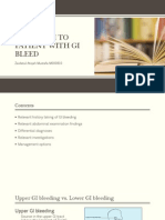 Approach to Patient With GI Bleed