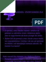 Alkohol- Izvor Svakog Zla