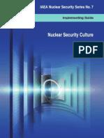 IAEA Nuclear Security Series 7 - Nuclear Security Culture