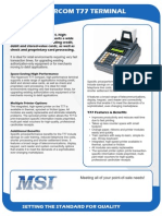 Hypercom T77 Credit Card Machine