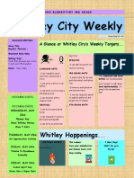 Newsletter Week of May 20 2013
