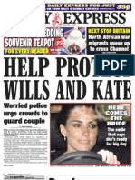 Daily Express Wednesday April 27 2011