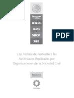 Ley Federal de Fomento a Las Actividades Realizadas Por Organizaciones de La Sociedad Civil (1)