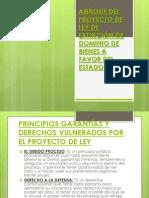 ANÁLISIS DEL PROYECTO DE LEY DE EXTINCIÓN DE DOMINIO