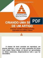 CRIANDO UMA SÍNTESE DE UM ARTIGO.ppt