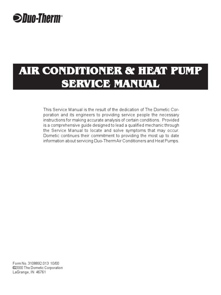 Rv Heater Maual Thermostat Air Conditioning Duo Therm Furnace Troubleshooting