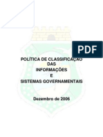 Politica de Classificacao Das Informacoes e Sistemas Governamentais 11-12-2006