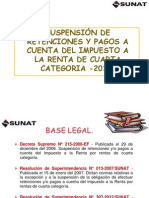 Suspension de Retenciones Al 2013