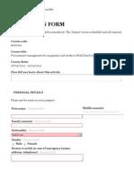 ITC ILO Turin Course -- Application Form