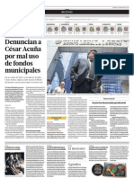 Denuncian a César Acuña por mal uso de fondos municipales
