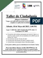Taller de Cuidadanía, 18 de mayo, 2013