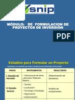 MODULO DE FORMULACIÓN DE PROYECTOS DE INVERSIÓN