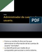 Administrador de Cuentas de Usuario