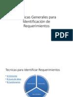 Técnicas Generales para Identificación de Requerimietos