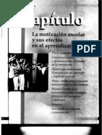 Cap 3 La Motivacion Escolar y Sus Efectos en El Aprendizaje Frida Diaz Barriga