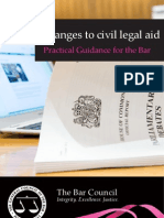 Changes to Civil Legal Aid, Practical Guidance for the Bar