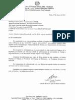 OFICIO DE LA OIT REMITIDO A LAS CENTRALES SINDICALES Y AL  CONGRESO