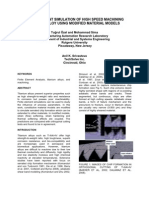 High Speed Machining of Titanium Alloys Using Modified Material Models