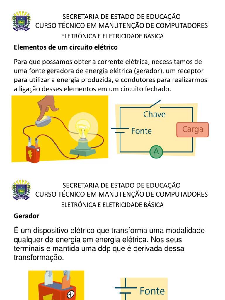 Circuito Eletrico : Aula circuito eletrico