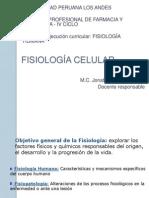 CLASE 1FISIOLOGÍA CELULAR