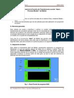 """Calculo Experimental de la Función de Transferencia usando """"Ident – Process Models"""" de Matlab"""