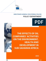 The Effect of Oil Companies Activities