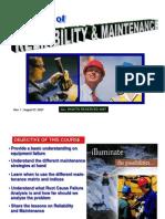 Reliability Maintenance Operational Management