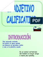 Adjetivo Calificativo u